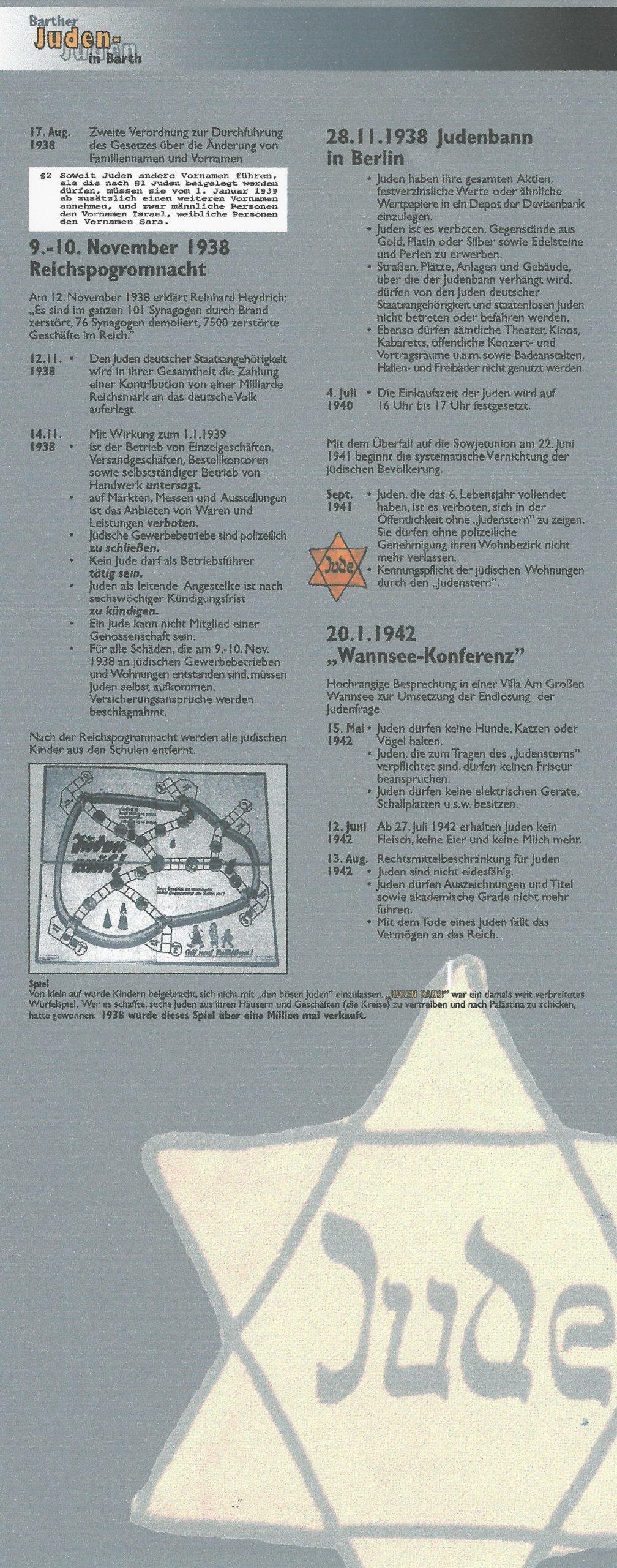 Reichspogromnacht in Barth Teil 2