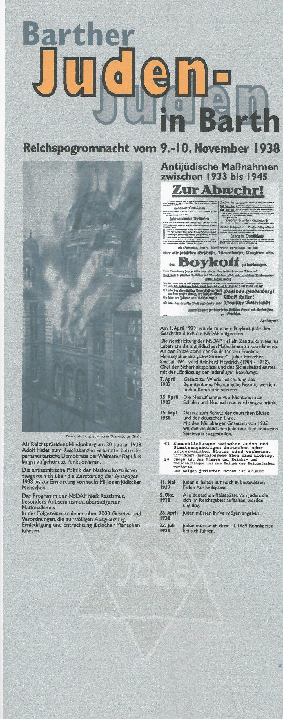 Reichspogromnacht in Barth
